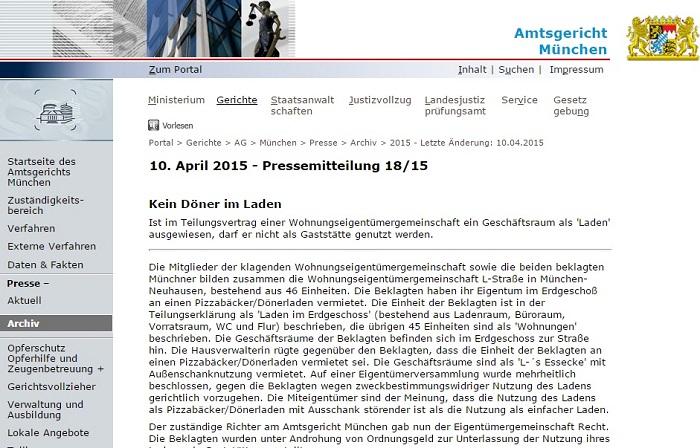 Das Urteil des Amtsgerichts München